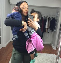 Happy Mothers Day to all the hardworking loving beautiful strong Mothers out there . All Mommy's know how hard it is taking a selfie with the kiddies . #HappyMothersDay