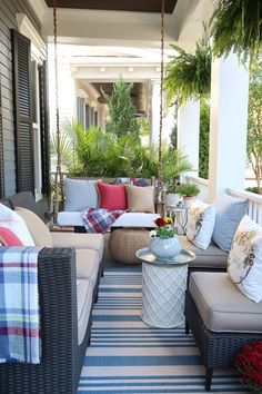 Learn easy and inexpensive ways to clean and decorate your porch this fall. Find out my special cleaning solution for getting rid of mold and algae on white outdoor cushions and pillows. How to protect your outdoor pillows so they are water and stain resistant. #cleancushions #cleanpillows #cleanrailings #cleanwood #cleanporch #cleanpatio #getridofmold #porchdaydreamerr
