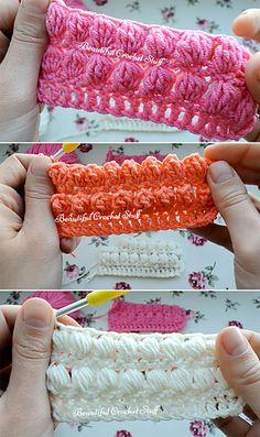 Ravelry: Puff, Bobble and PopCorn Stitches Video pattern by Jane Green