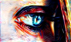 Blue eyes | Created with Painnt app | Painnt uses neural networks to generate gorgeous artwork from your Camera roll. #trippy #digitalart
