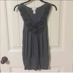 BODY CENTRAL gray top shirt Sharp! Small BODY CENTRAL very dark grey, almost black. Scrunch ruched at bottom, very sharp! Ruffled. Very Flattering!!!! Size is Small Body Central Tops Blouses