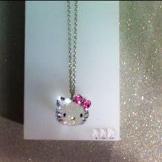Swarovski Hello Kitty Necklace!!