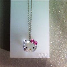 Swarovski Hello Kitty Necklace!!