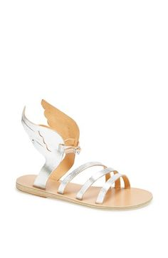 I want these winged metallic sandals so bad!Ancient Greek Sandals 'Ikaria' Winged Metallic Leather Sandal available at Leather Sandals, Shoes Sandals, Metallic Sandals, Ancient Greek Sandals, Shoe Closet, Crazy Shoes, Pumps, Heels, Metallic Leather