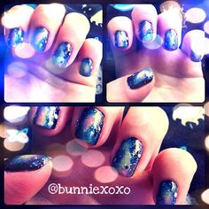 "My first attempt and take on ""Galaxy Nails"""
