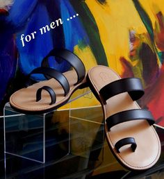 Handmade leather sandal HECTOR ..... black .....