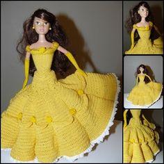 tuto crochet: Lorsque Barbie se prend pour la Belle de La Belle et La Bête