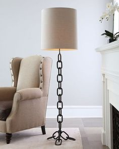 Paxton Natural Iron Chain Floor Lamp