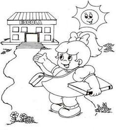 Desenhos Para Colorir Dia Da Escola Cantinho Do Educador Infantil