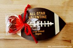 All-Star Valentine via @Stephanie Close Ellison Vanessa Craft Super cute!