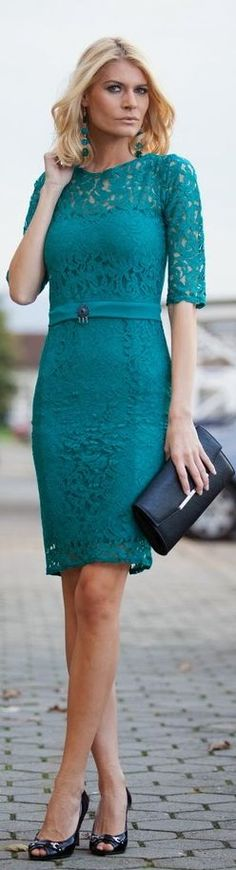 Searching for a bridesmaids dress - Teal Lace.