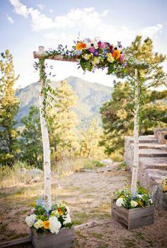 Arche de mariage  en bois pour cérémonie laïque
