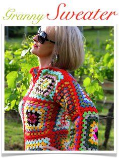 Granny sweater PDF pattern!!