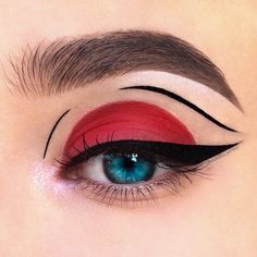 creative makeup looks eyeliner ~ eyeliner looks creative ; creative makeup looks eyeliner ; creative makeup looks with eyeliner ; black eyeliner looks creative Red Eyeshadow Makeup, Eye Makeup Art, Maybelline Eyeshadow, Red Eyeliner, Eyeshadow Palette, Creamy Eyeshadow, Eyeshadow Ideas, Eyeshadow Techniques, Sparkle Eyeshadow