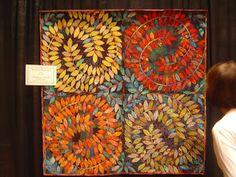 LEAVES QUILT............PC..............originally a quilt - but would make a fabulous mosaic - imagine a shower floor