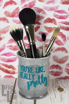 Makeup Artist Lessons since Makeup Vanity Big Lots but Makeup Bag Sayings; Makeup Artist Near Me neither Makeup Forever Jessie J Palette The post Makeup Artist Lessons since Makeup Vanity Big Lots… appeared first on Woman Casual - Makeup Recipes Makeup Jars, Diy Makeup Brush, Diy Makeup Storage, Make Makeup, Girls Makeup, Makeup Artist Near Me, Youre Like Really Pretty, Glitter Crafts, Glitter Wine