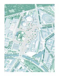 MASTERP_M20 Berlin competition Architecture Site Plan, Paper Architecture, Architecture Graphics, Architecture Drawings, Architecture Portfolio, Concept Architecture, House Architecture, Urban Design Concept, Urban Design Diagram