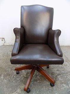 swivel,tilt,arm chair,chair,castors,chair,adjustable,office chair,brown,leather   Business, Office & Industrial, Office Equipment & Supplies, Office Furniture   eBay!