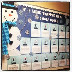 Snow Globe Bulletin Board for 4th Grade Classroom.