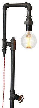 Industrial-Style Floor Lamp - industrial - Floor Lamps - Peared Creation (at Houzz)