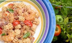 Blackened Shrimp Pasta Salad w/ Creole Tomato Dressing   Ms. enPlace