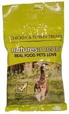 Natures Menu Cat Treats Real Meat Chicken  Turkey 60g * To view further for this item, visit the image link.