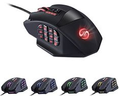 UtechSmart Venus 50 to 16400 DPI High Precision Laser MMO Gaming Mouse for PC, 18 Programmable Buttons,  - Click image twice for more info - See a larger selection of gaming mouse at http://azgiftideas.com/product-category/gaming-mouse/- games,gift ideas for gamer, pc games, grown up toys accessories, holidays, christmas, gift ideas, pc accessories