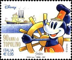 Mickey Mouse drives the boat Walt Disney Story, Hobby World, Postage Stamp Art, Mickey And Friends, Decoupage, Mickey Mouse, Disney Characters, Fictional Characters, Cartoon