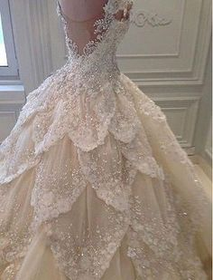 Luxurious Off the Shoulder Beading Wedding Dress Crystal Tiered Chapel Train Bri. Luxurious Off the Shoulder Beading Wedding Dress Crystal Tiered Chapel Train Bridal Gowns Dream Wedding Dresses, Wedding Gowns, Tiered Wedding Dresses, Wedding Dress Bling, Disney Inspired Wedding Dresses, Princess Style Wedding Dresses, Fairy Wedding Dress, Wedding Disney, Weeding Dress