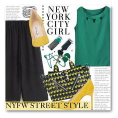 """NYFW Street Style"" by black-fashion83 ❤ liked on Polyvore featuring Kenzo, Manolo Blahnik, Michael Kors, women's clothing, women, female, woman, misses and juniors"