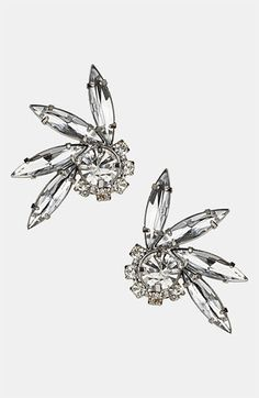 $20.00 Topshop 'Fan Stone'  Stud Earrings available at #Nordstrom
