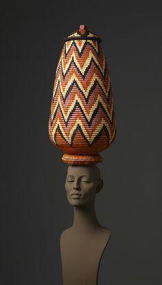 Masterfully woven Zulu baskets from Kwa Zulu Natal, South Africa