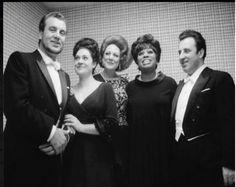 Nicolai Ghiaurov, Fiorenza Cossotto, Renata Tebaldi, Leontyne Price and Carlo Bergonzi (1964)