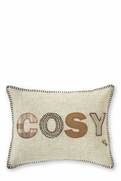 Cosy Appliqué And Embroidered Cushion