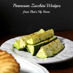 Parmesan Zucchini Wedges - That's My Home