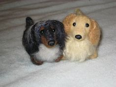 Needle Felted Dog / Custom Miniature Sculpture of by GourmetFelted