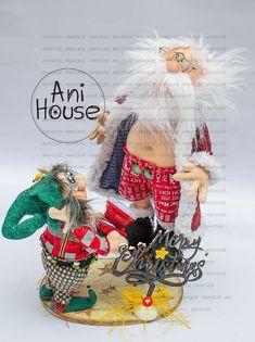 Christmas Fabric, Fabric Decor, Fun Crafts, Santa, Dolls, Character, Ideas, Tela, Christmas Sewing