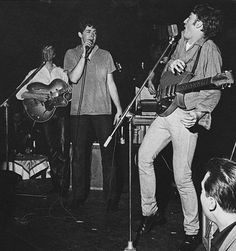 Early Beatles, with Stuart Sutcliffe on bass, playing in Hamburg, Germany