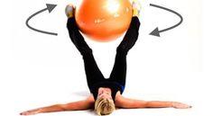 Stability balls leg circles