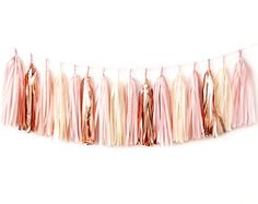 Blush Rose Gold Tassel Garland @ etsy