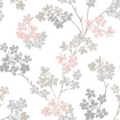 Varumärke: Graham & Brown Typ av produkt: Tapet non-woven Färg: Rosa/Grå Hel storlek: 1005x53 cm Lätt att sätta upp Tillverkad i England