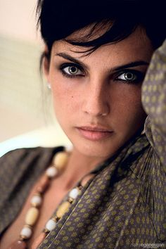 Looking serious by Naira Oganesyan, via Flickr.. eye makeup!