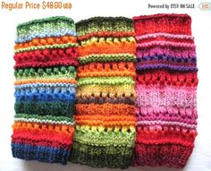 Items similar to Boot Cuff Boot Toppers Leg Warmers Boot Socks Cable Striped Blue Red Green Orange Multicolored Handknitted on Etsy Knitting Yarn, Hand Knitting, Knitting Patterns, Boot Cuffs, Boot Socks, Knit Leg Warmers, Boot Toppers, Red Green Yellow, Orange Red
