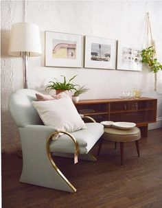 Does your home have comfy spots to crash? Vintage modern accent chairs create a cohesive look.