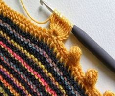 örgüler Full 50 Grain Knitting Crochet Vests- You can see almost all of the examples you see here. For Knitting Patterns and Crochet Samples. Crochet Boarders, Crochet Edging Patterns, Crochet Motif, Crochet Simple, Crochet Diy, Crochet Chart, Knitting Stitches, Knitting Patterns, Gilet Crochet