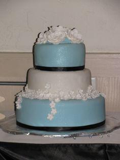 The brides cake...all edible...
