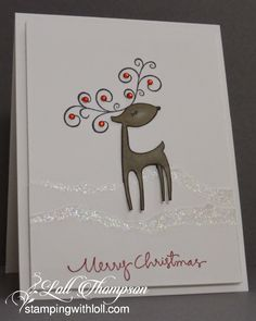 Stamping with Loll: Winking Reindeer