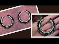 Tutorial on how to make a pair of beaded hoop earring with Swarovski bicones. Please subscribe for updates on new video's! New video's will be uploaded every...