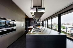 Kitchen: Coppin Penthouse Overlooking Melbourne