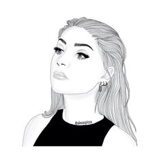 We Heart It ❤ liked on Polyvore featuring fillers, doodle, drawing, extra, pics, outline and scribble